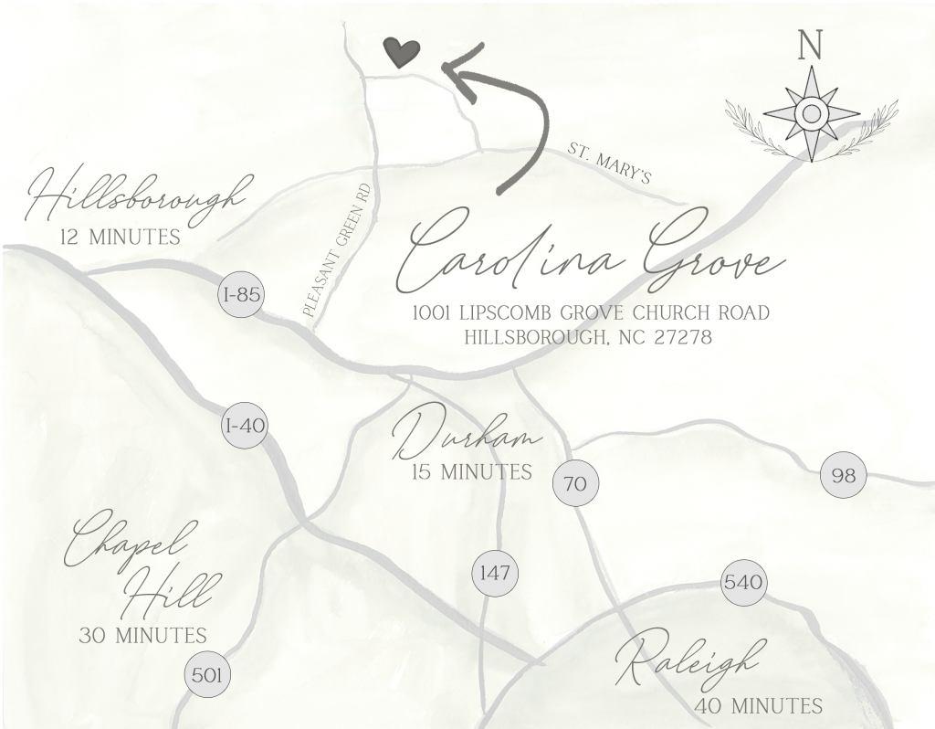 Map of Carolina Grove and surrounding