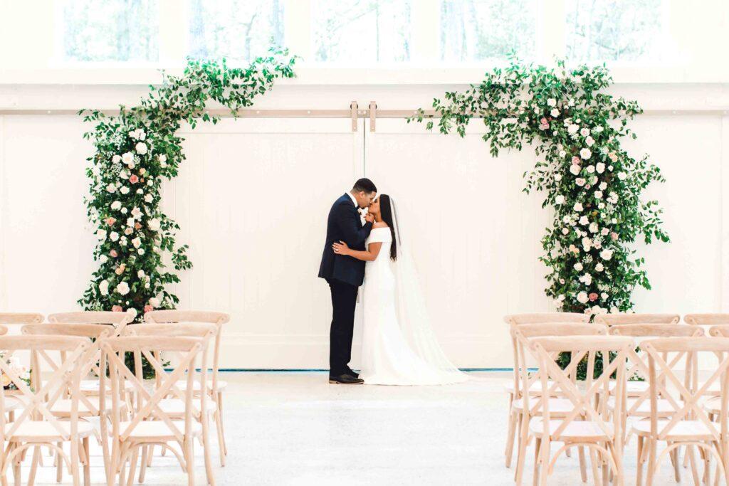 indoor wedding ceremony