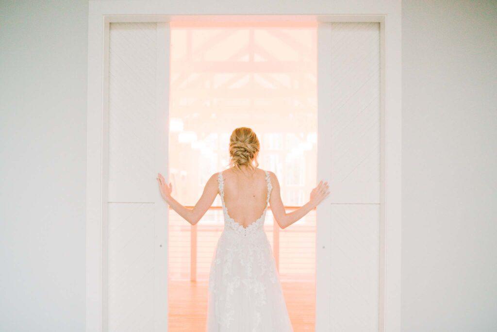 Bride sliding barn doors