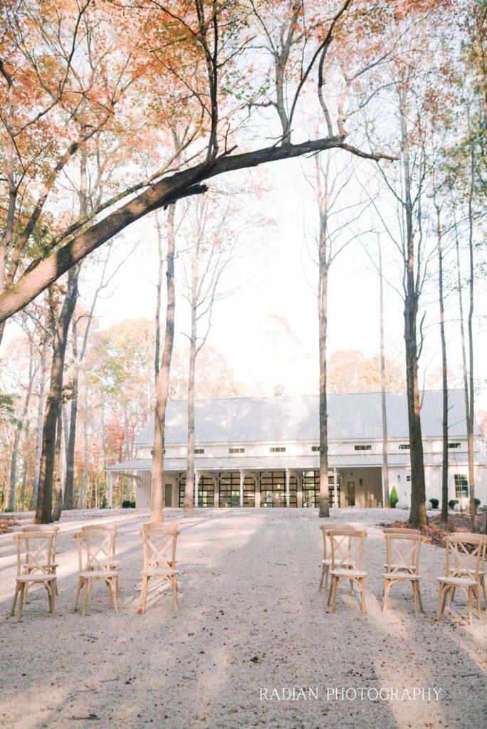 Outdoor grove ceremony