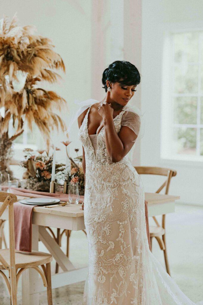 Bride in reception